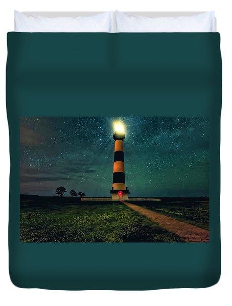 Bodie Island Night Duvet Cover