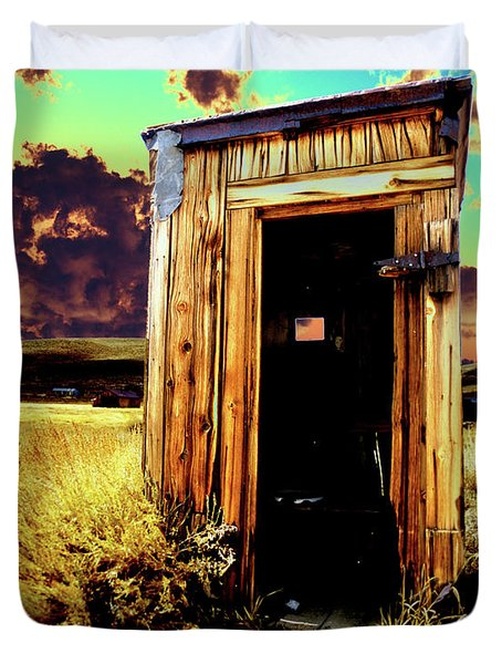 Bodie Outhouse Duvet Cover by Jim And Emily Bush