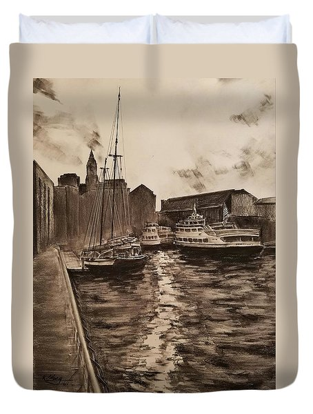 Boston Harbor Duvet Cover