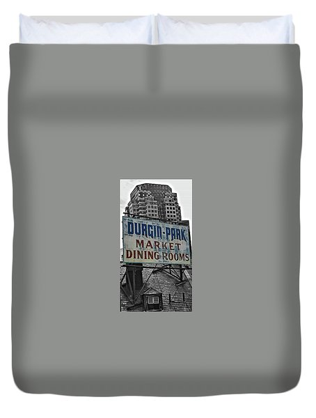 Duvet Cover featuring the photograph Boston Icon by Bruce Carpenter