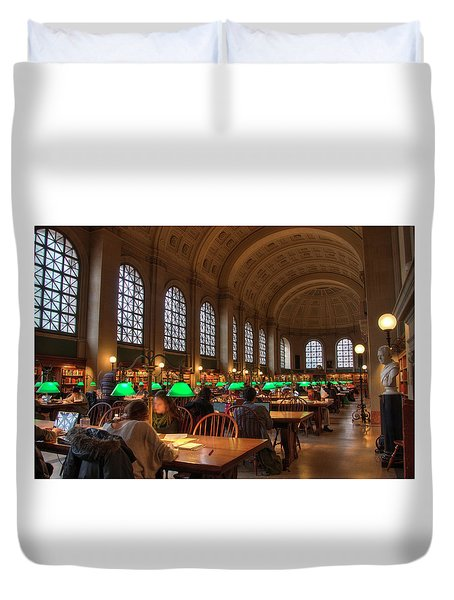 Duvet Cover featuring the photograph Boston Public Library by Joann Vitali