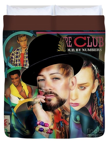 Boy George Collection Duvet Cover by Marvin Blaine