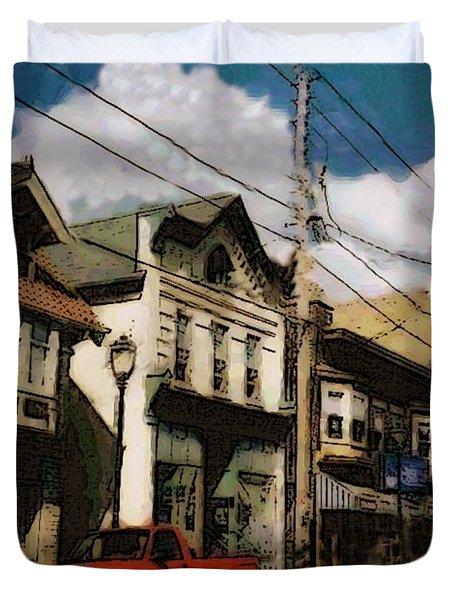 Brady Street Scene Duvet Cover