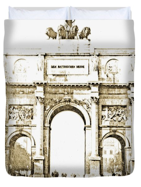 Brandenburg Gate, Berlin Germany, 1903, Vintage Image Duvet Cover
