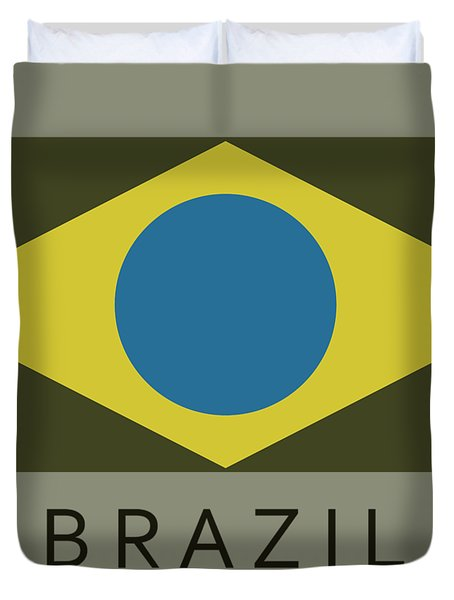 Brazil Flag Duvet Cover