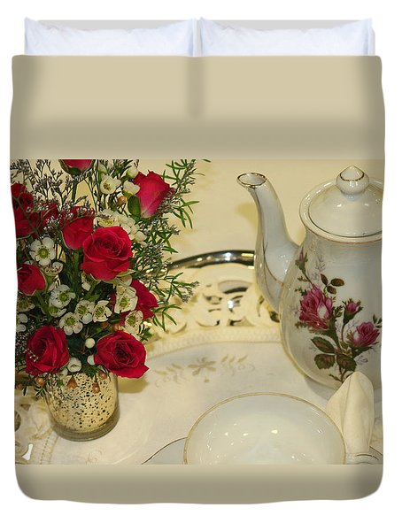 Breakfast In Bed Duvet Cover by Living Color Photography Lorraine Lynch