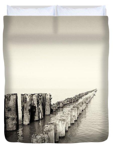 Breakwaters Duvet Cover by Wim Lanclus