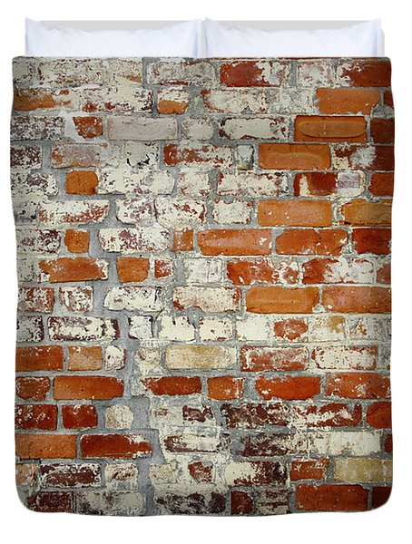 Brick Wall Duvet Cover by Les Cunliffe