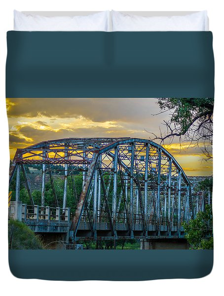 Duvet Cover featuring the photograph Bridge by Jerry Cahill