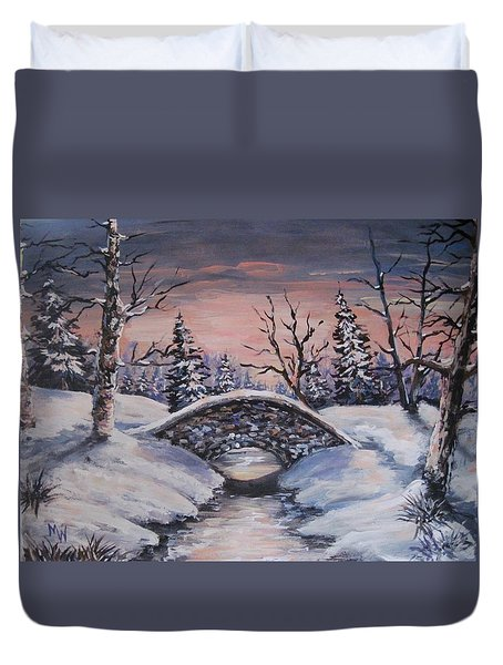Bridge Of Solitude Duvet Cover by Megan Walsh
