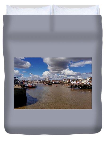 Bridlington Harbour Duvet Cover