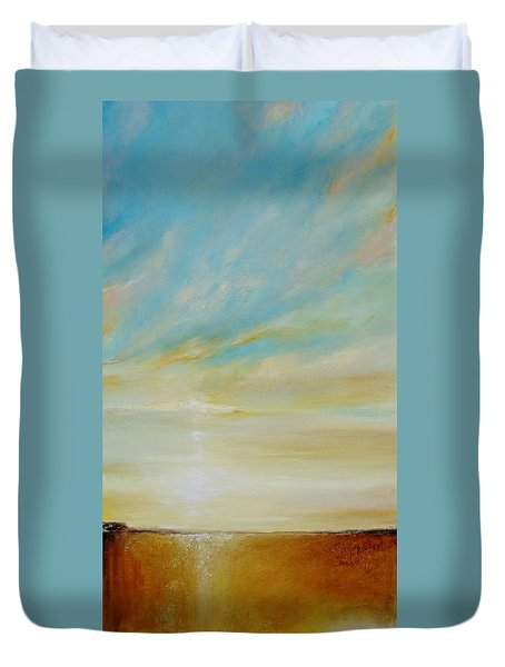 Duvet Cover featuring the painting Bright Future by Dina Dargo