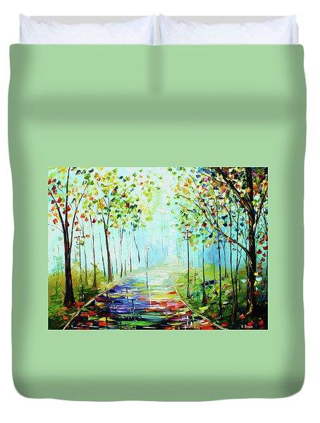 Bright Path Duvet Cover
