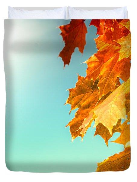 Yellow Autumn White Sun Duvet Cover