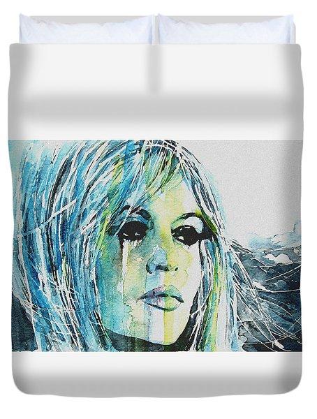 Brigitte Bardot Duvet Cover by Paul Lovering