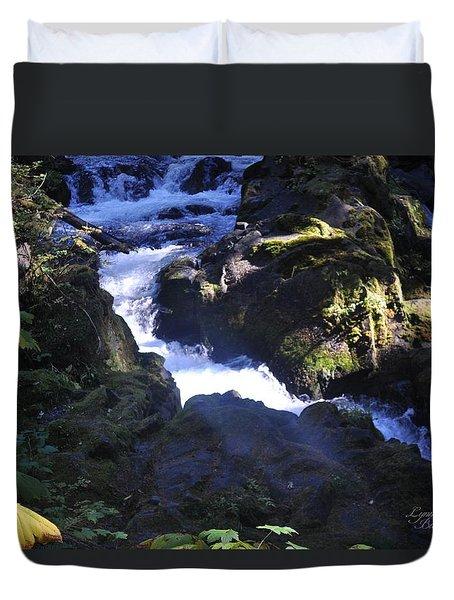 Brink Of The Falls Duvet Cover