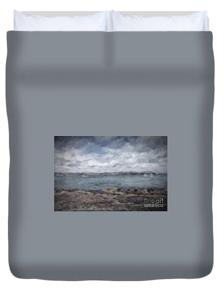 Duvet Cover featuring the photograph Brixham Harbour by Patricia Hofmeester