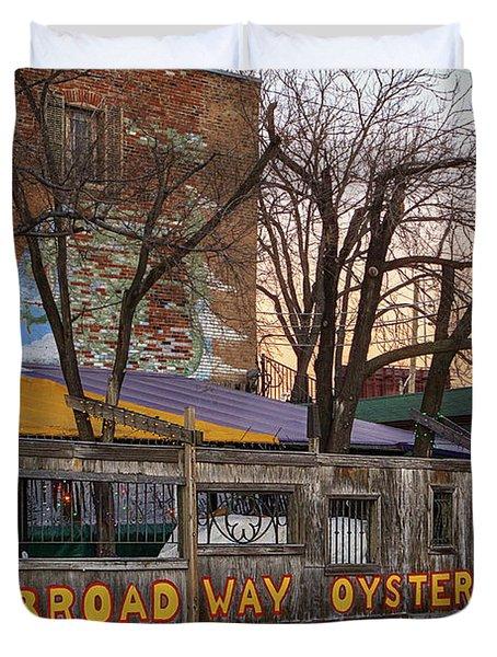 Broadway Oyster Bar Duvet Cover