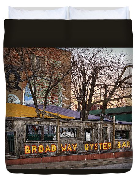 Broadway Oyster Bar Duvet Cover