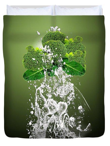 Broccoli Splash Duvet Cover