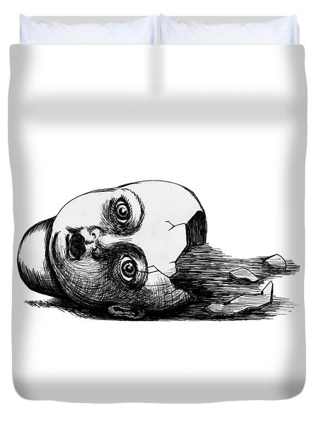 Broken Doll Duvet Cover