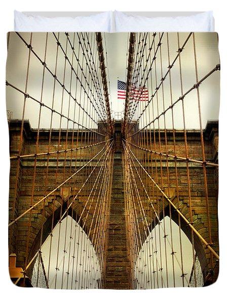 Brooklyn Bridge Twilight Duvet Cover
