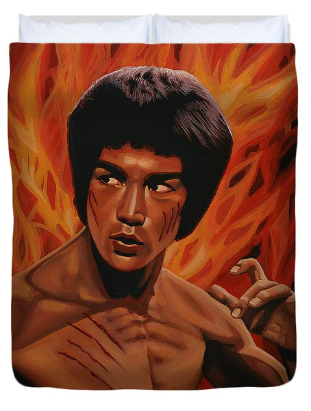 Bruce Lee Enter The Dragon Duvet Cover by Paul Meijering