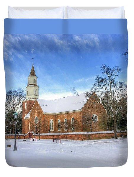 Bruton Parish In Winter II Duvet Cover