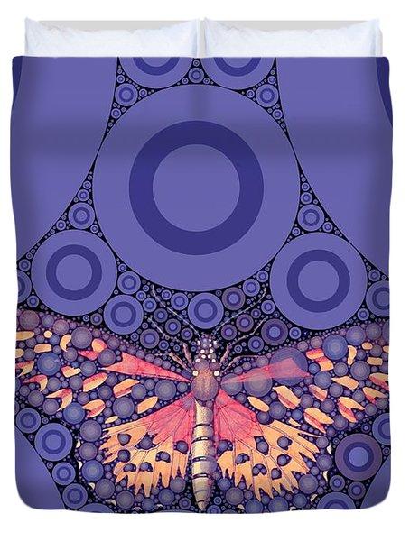 Bubble Art Butterfly Duvet Cover