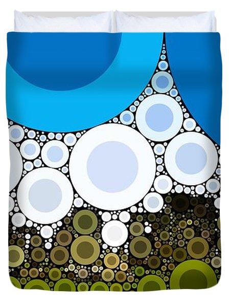 Bubble Art Stonehenge Duvet Cover