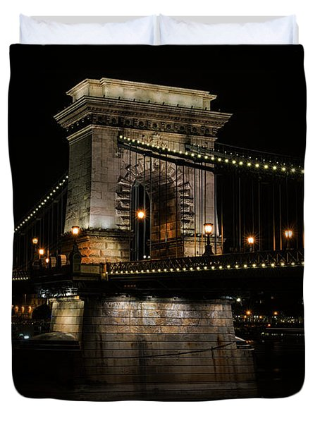 Budapest At Night. Duvet Cover by Jaroslaw Blaminsky