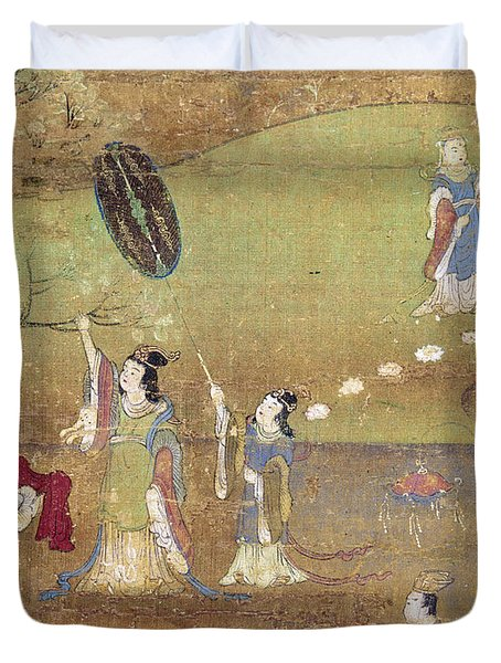 Buddha: Birth Duvet Cover