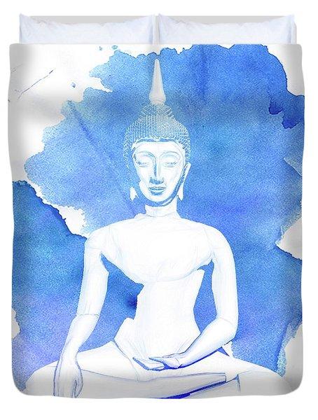 Buddha By Raphael Terra Duvet Cover