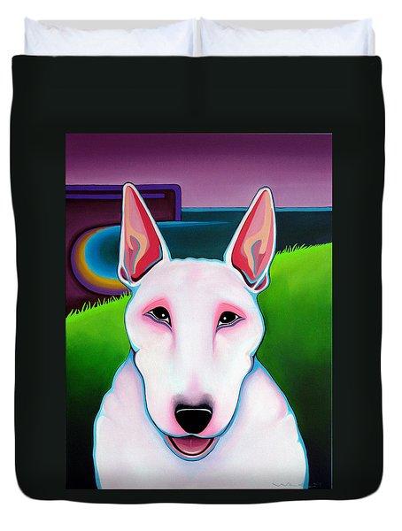 Bull Terrier Duvet Cover by Leanne WILKES