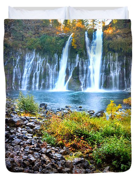 Burney Falls  Duvet Cover