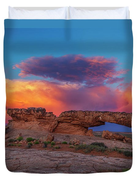 Burning Skies Duvet Cover