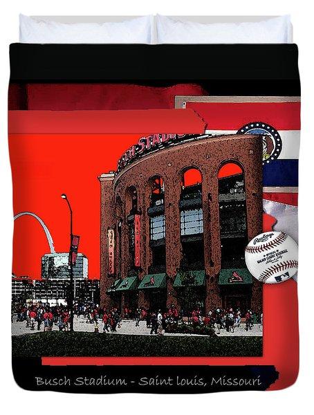Busch Stadium Saint Louis Missouri Duvet Cover by John Freidenberg