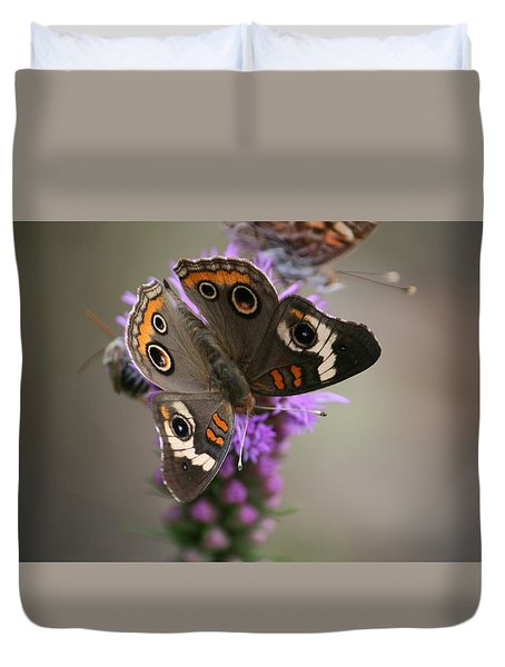 Buckeye Butterfly Duvet Cover by Cathy Harper