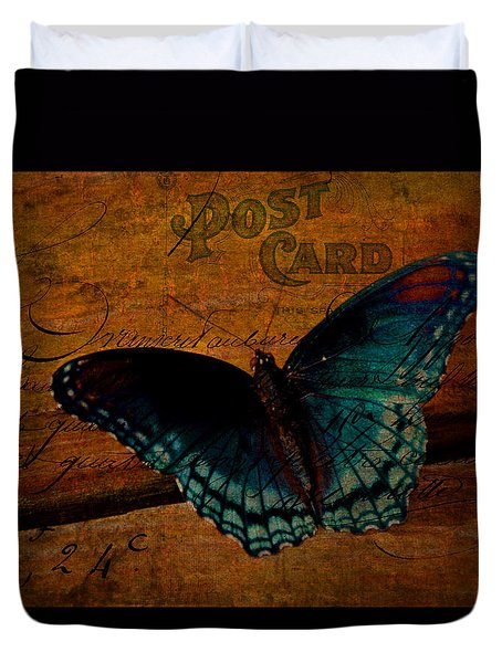 Butterfly Art French Duvet Cover by Lesa Fine