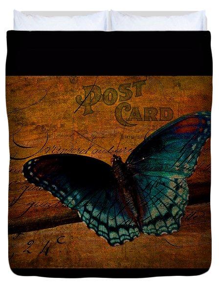 Butterfly Art French Duvet Cover