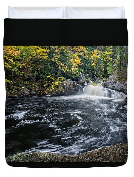 Buttermilk Falls Gulf Hagas Me. Duvet Cover by Michael Hubley
