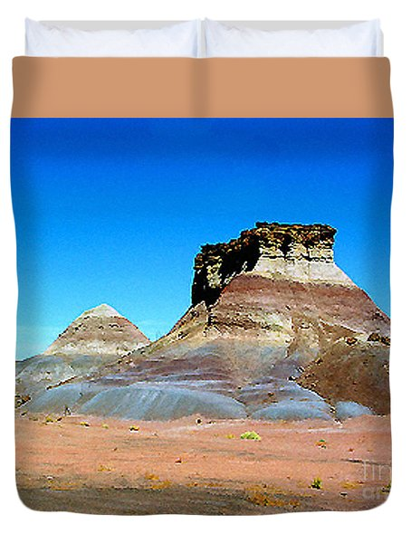 Buttes In The Painted Desert In Arizona Duvet Cover by Merton Allen