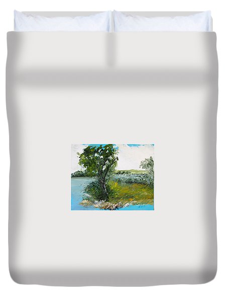 By The Snake River Duvet Cover