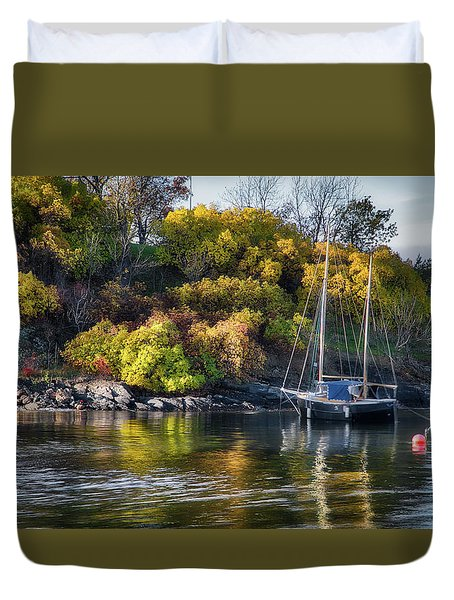 Bygdoy Harbor Duvet Cover