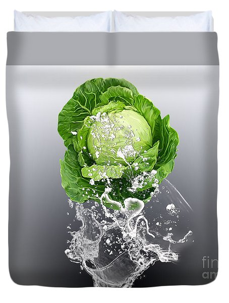 Cabbage Splash Duvet Cover