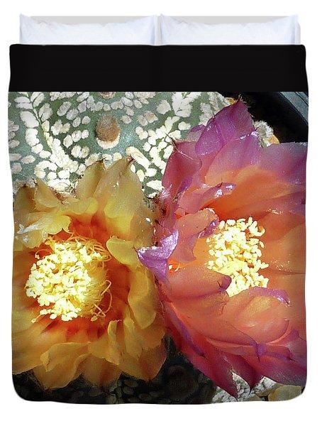 Cactus Flower 3 Duvet Cover by Selena Boron