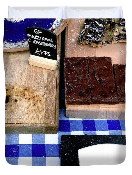 Cake Stall At A Market Duvet Cover