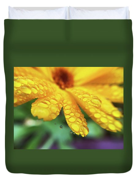Calendula Officinalis Duvet Cover