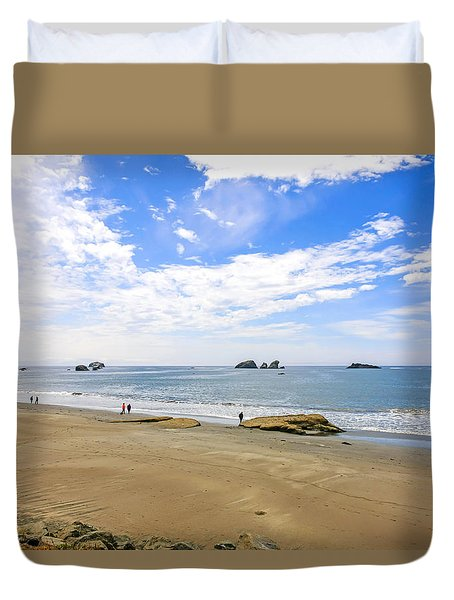 California Coastline Duvet Cover