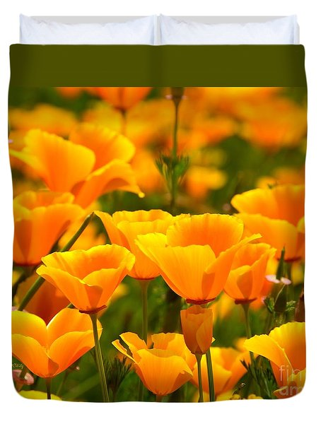 California Poppies Duvet Cover by Patrick Witz